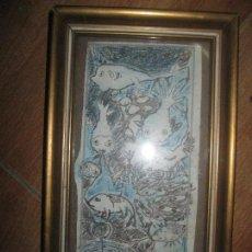 Varios objetos de Arte: RARO Y ANTIGUO DIBUJO ORIGINAL SURREALISMO AÑOS 70. Lote 93816840