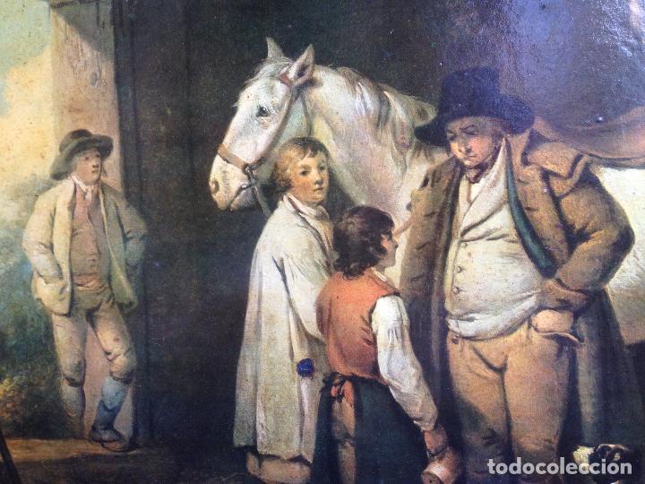Varios objetos de Arte: PRECIOSA LÁMINA ANTIGUA ENMARCADA CACERÍA - Foto 2 - 93824990