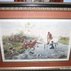 Varios objetos de Arte: CUADRO GRANDE CON MARCO PRECIOSO- 110 CM X 85 CM- COMO NUEVO-CABALLOS. COLECCIÓN-COLECCIONISTA. Lote 94155055