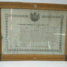 Varios objetos de Arte: DIPLOMA MEDICO TITULAR: DIPLOMA MEDICO TITULAR 1917 DE LA LOCALIDAD DE CONSTANTI A EUSEBIO VILA .... Lote 94470204