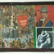 Varios objetos de Arte: CUADRO COLLAGE: COLLAGE ENMARCADO DE LA PELICULA ROBIN DE LOS BOSQUES . Lote 94470222