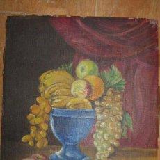 Varios objetos de Arte: ANTIGUO OLEO PINTURA IMPRESIONISTA EN CARTON SELLO LA DECORADORA ALICANTE ( DEL CARTON ). Lote 94614255
