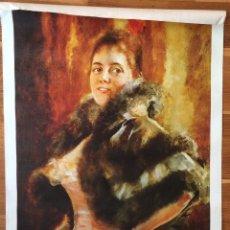 Varios objetos de Arte: ROMAN RIBERA RETRATO DE MUJER / GRABADO REPRODUCCIÓN SOBRE TELA DE LIENZO DE ROMAN RIBERA. Lote 95053116