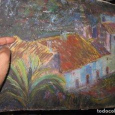 Varios objetos de Arte: INTERESANTE ANTIGUO DIBUJO AL PASTEL ORIGINAL ANTIGUA CALLE DE ALICANTE. Lote 95321463