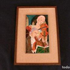 Varios objetos de Arte: MONTSERRAT MAINAR BENEDICTO (BARCELONA, 1928) BONITO ESMALTE. MÚSICOS. Lote 95342695