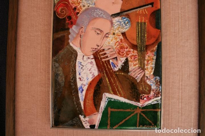 Varios objetos de Arte: MONTSERRAT MAINAR BENEDICTO (Barcelona, 1928) BONITO ESMALTE. MÚSICOS - Foto 4 - 95342695