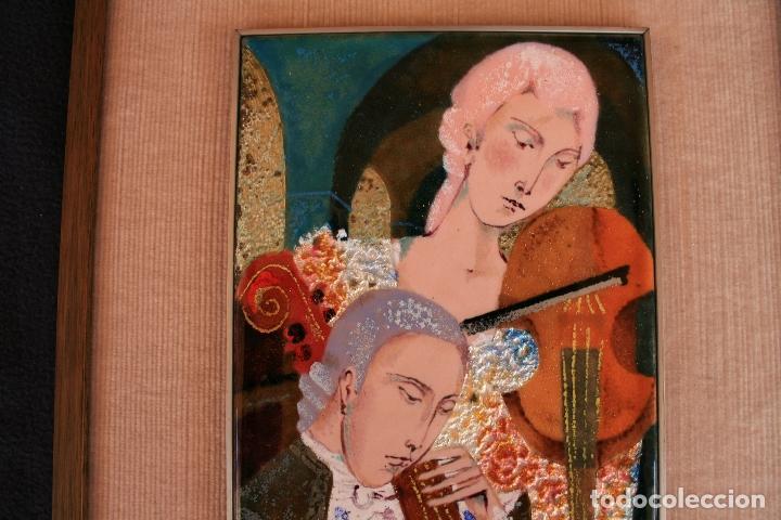 Varios objetos de Arte: MONTSERRAT MAINAR BENEDICTO (Barcelona, 1928) BONITO ESMALTE. MÚSICOS - Foto 6 - 95342695
