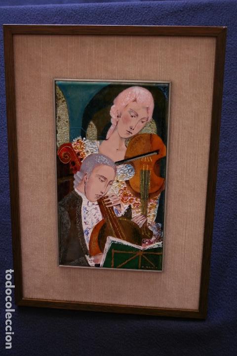 Varios objetos de Arte: MONTSERRAT MAINAR BENEDICTO (Barcelona, 1928) BONITO ESMALTE. MÚSICOS - Foto 7 - 95342695