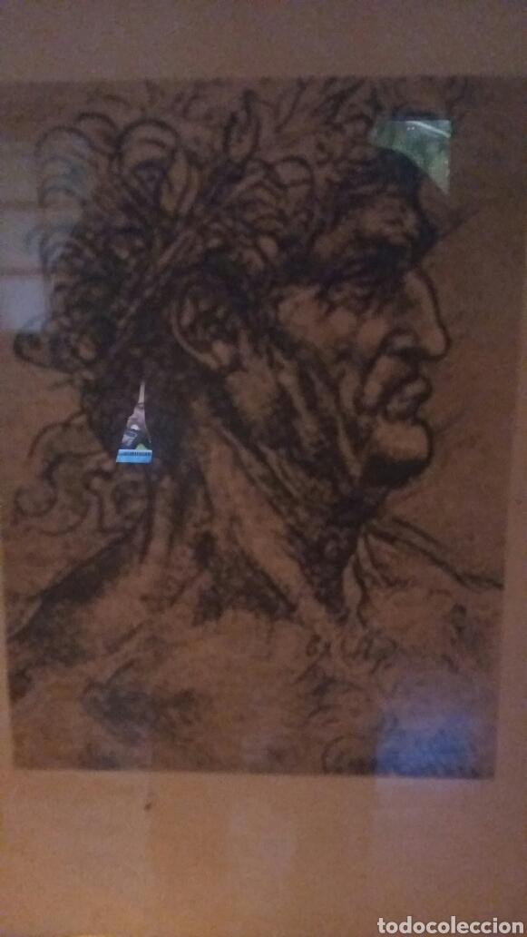 Varios objetos de Arte: Lámina de Leonardo da Vinci enmarcada. - Foto 2 - 95430524