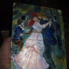 Varios objetos de Arte: PINTURA ANTIGUA OBRA EN COBRE Y PORCELANA ORIGINAL DEL PINTOR COZAR. Lote 96413159