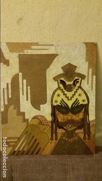 MAX ERNST ARTISTA ALEMAN COLLAGE TECNICA MIXTA FIRMADO (Arte - Varios Objetos de Arte)