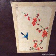 Varios objetos de Arte: TINTA Y AGUADA SOBRE TELA DE SEDA Y MONTADA CARTON.TAMAÑO POSTAL. Lote 97164527