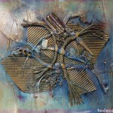 Varios objetos de Arte: TECNICA MIXTA SOBRE CARTON. Lote 97463759