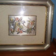 Varios objetos de Arte: ESPECTACULAR CUADRO DE COLECCIÓN EN PLATA DE LEY ITALIANO ÚNICO. Lote 98057827