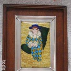 Varios objetos de Arte: ESMALTE AL FUEGO ENMARCADO EN PLATA DE LEY (MITAD DEL SIGLO XX) . Lote 98118887