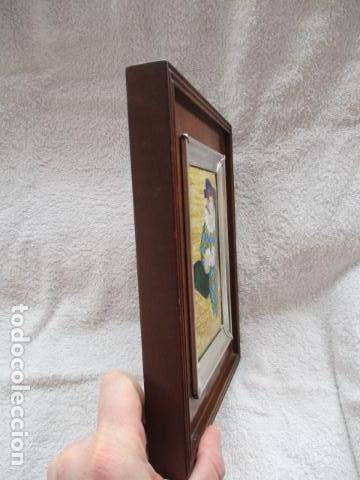 Varios objetos de Arte: ESMALTE AL FUEGO ENMARCADO EN PLATA DE LEY (MITAD DEL SIGLO XX) - Foto 5 - 98118887