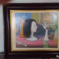 Varios objetos de Arte: CUADRO AL PASTEL DE ABRAIDO DEL REY. Lote 98295687