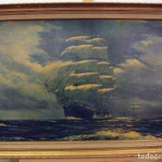 Varios objetos de Arte: REPRODUCCION DE UNA PINTURA SOBRE LIENZO MONTADO EN BASTIDOR. Lote 98701371
