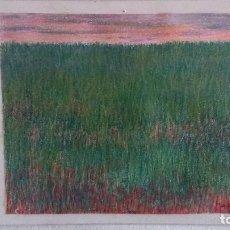 Varios objetos de Arte: CUADRO AL PASTEL DE ABRAIDO DEL REY. Lote 98793763