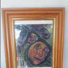 Varios objetos de Arte: CUADRO AL PASTEL DE ABRAIDO DEL REY. Lote 98150371