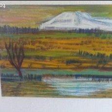 Varios objetos de Arte: CUADRO AL PASTEL DE ABRAIDO DEL REY. Lote 99823843