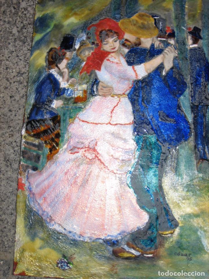 Varios objetos de Arte: PINTURA ANTIGUA OBRA EN COBRE Y PORCELANA ORIGINAL DEL PINTOR COZAR - Foto 8 - 96413159