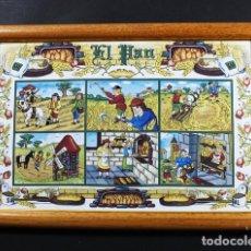 Varios objetos de Arte: CUADRO RUSTICO CERAMICA CON MARCO DE MADERA 23 X 33 CM 860 GR KERALSA DEDICADO A EL PAN. Lote 100087475