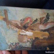 Varios objetos de Arte: TABLA PINTADA ANTIGUA. Lote 100304399