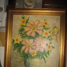 Varios objetos de Arte: RARA PINTURA ANTIGUA OLEO LIENZO FIRMA ILEGIBLE EN ALICANTE 1967. Lote 100454055