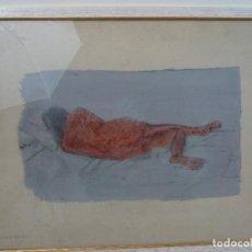 Varios objetos de Arte: ACRÍLICO SOBRE PAPEL DESNUDO - SIGLO XX. Lote 100939175