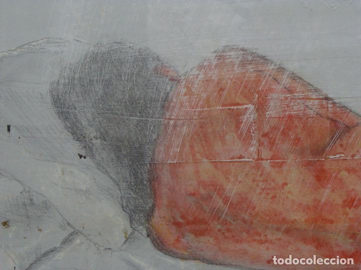 Varios objetos de Arte: Acrílico sobre papel Desnudo - Siglo XX - Foto 4 - 100939175