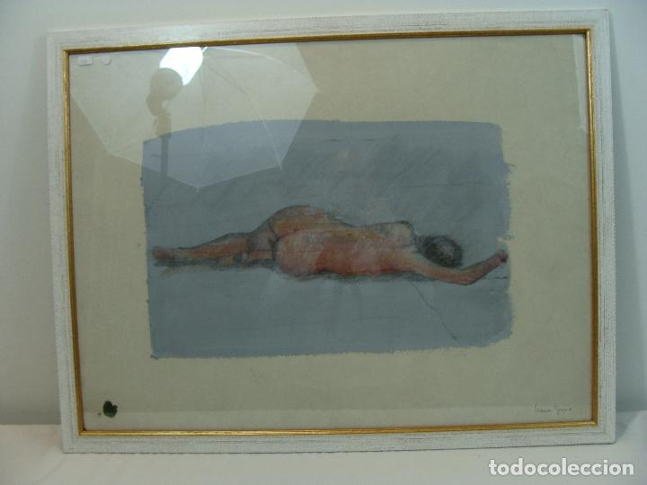 ACRÍLICO SOBRE PAPEL DESNUDO - SIGLO XX (Arte - Varios Objetos de Arte)