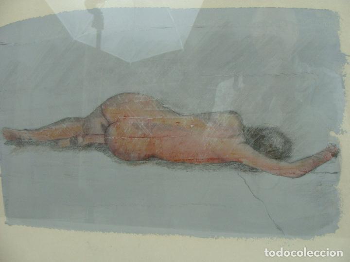 Varios objetos de Arte: Acrílico sobre papel Desnudo - Siglo XX - Foto 2 - 100939483