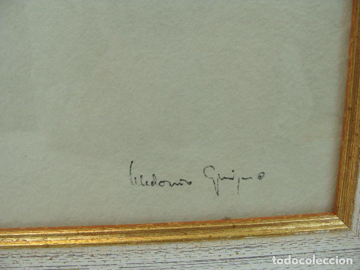 Varios objetos de Arte: Acrílico sobre papel Desnudo - Siglo XX - Foto 3 - 100939483