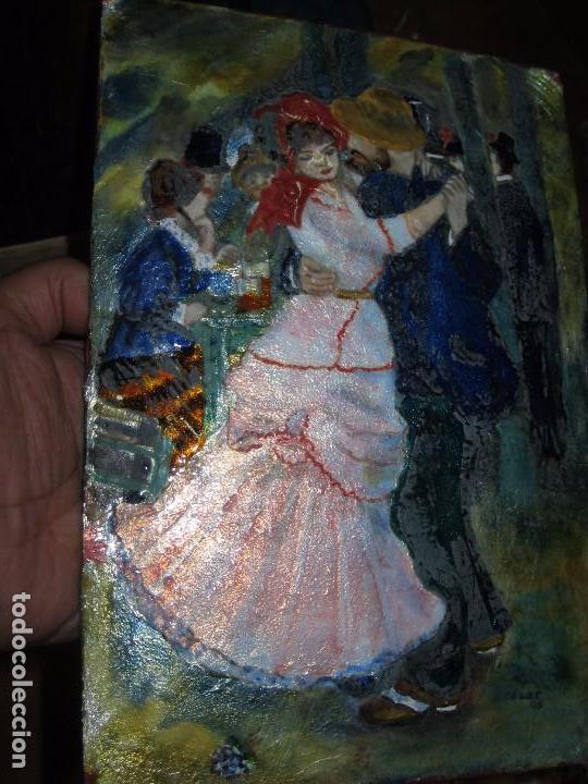 Varios objetos de Arte: PINTURA ANTIGUA OBRA EN COBRE Y PORCELANA ORIGINAL DEL PINTOR COZAR - Foto 2 - 96413159