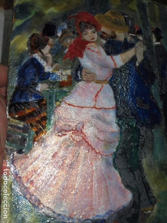 Varios objetos de Arte: PINTURA ANTIGUA OBRA EN COBRE Y PORCELANA ORIGINAL DEL PINTOR COZAR - Foto 14 - 96413159