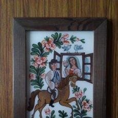 Varios objetos de Arte: CUADRO. PINTURA EN VIDRIO. TEMPERA. REPUBLICA CHECA. AUTORA: VLASTA MIKUNDOVA. Lote 101674436