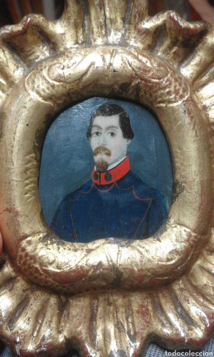 Varios objetos de Arte: miniatura personaje militar pintada principioXIX - Foto 2 - 101925363