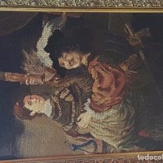 Varios objetos de Arte: TAPIZ BORDADO A MANO. Lote 102619971