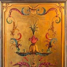 Varios objetos de Arte: PANEL ORIGINAL PINTADO A MANO. ROCOCÓ FRANCÉS. AÑOS 50/60. TEATRO DE PARÍS.. Lote 102679963