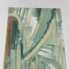 Varios objetos de Arte: PINTURA ABSTRACTA, MIXTA SOBRE PAPEL, FIRMA ILEGIBLE. Lote 102785595
