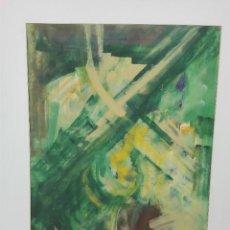 Varios objetos de Arte: PINTURA ABSTRACTA, MIXTA SOBRE PAPEL, FIRMA ILEGIBLE. Lote 102785635