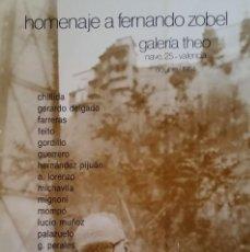 Varios objetos de Arte: FERNANDO ZOBEL - CARTEL EXPOSICIÓN ORIGINAL 1984 - MEDIDAS 66 X 46,5 CM. APROX.. . Lote 104255843