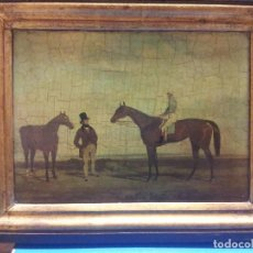 Varios objetos de Arte: CUADRO INGLÉS. IMPRESIÓN SOBRE TABLA. Lote 104688687