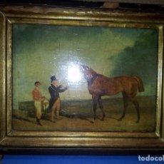 Varios objetos de Arte: CUADRO INGLÉS. IMPRESIÓN SOBRE TABLA. Lote 104688923