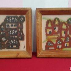 Varios objetos de Arte: PAREJA DE CUADROS DE CERÁMICA PINTADO A MANO POR M. MOREY. Lote 104772364