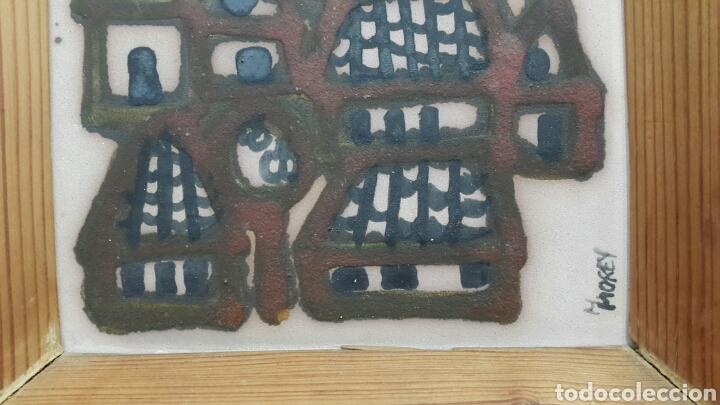 Varios objetos de Arte: PAREJA DE CUADROS DE CERÁMICA PINTADO A MANO POR M. MOREY - Foto 2 - 104772364