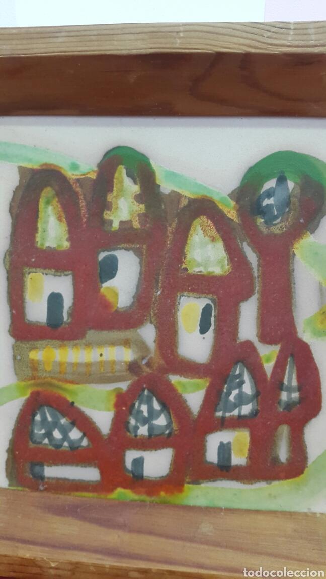 Varios objetos de Arte: PAREJA DE CUADROS DE CERÁMICA PINTADO A MANO POR M. MOREY - Foto 3 - 104772364