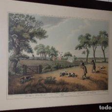 Varios objetos de Arte: CUADRO DE CAZA ESTILO INGLÉS 60 X 48 CM. Lote 104830303
