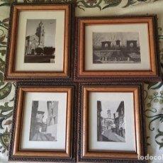 Varios objetos de Arte: KK LOTE 4 LAMINAS FOTOGRAFIAS ENMARCADAS MONUMENTOS CALLES DE CATEDRAL DE CALAHORRA. Lote 105119379